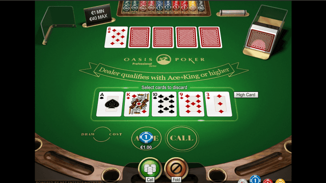 Бонусная игра Oasis Poker Professional Series 4
