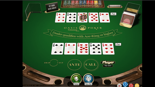 Бонусная игра Oasis Poker Professional Series 9