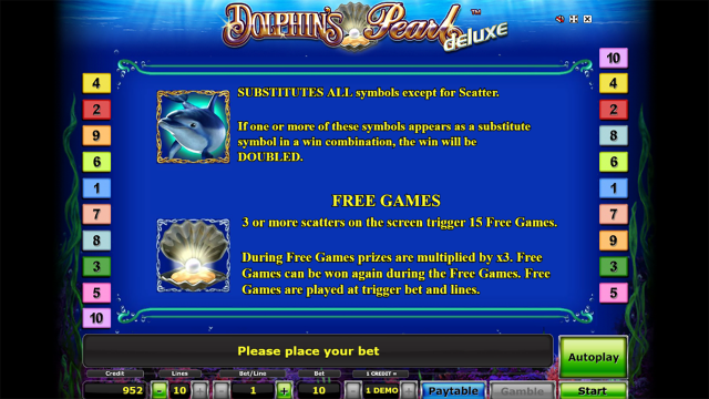 Бонусная игра Dolphin's Pearl Deluxe 1