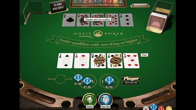 Бонусная игра Oasis Poker Professional Series 7