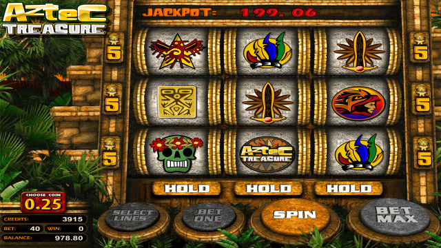 Характеристики слота Aztec Treasure 2D 4