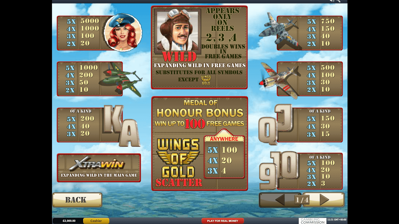 Характеристики слота Wings Of Gold 2
