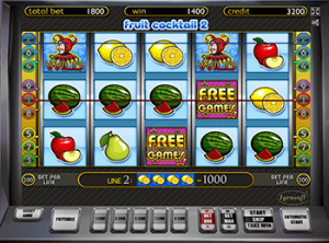 Играть без смс онлайн в автомат Fruit Cocktail 2
